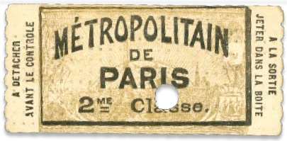 ticket de métro